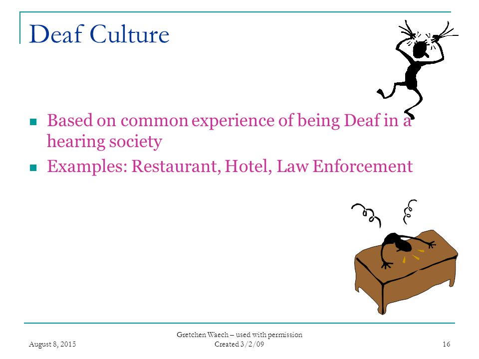 Deaf culture rules of etiquette dating